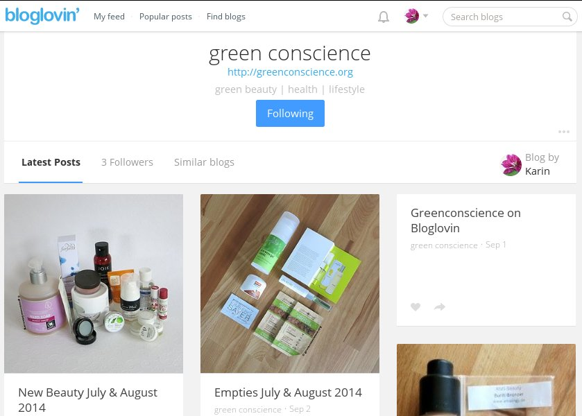 Green Conscience on Bloglovin